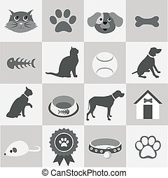 Pet icons set