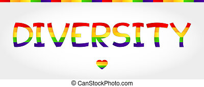 Diversity word - Diversity stylized word with rainbow and...