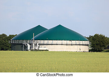 Modern biogas plant for renewable energy
