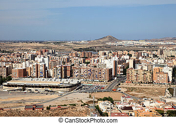 View over the city of Cartagena, region Murcia, Spain