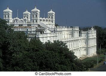 Indian Palace - Large white Italianate style palace Jai...