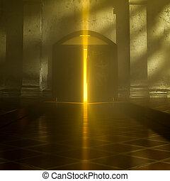 3d Heaven's Door. - 3d backgrounds door opened in the...