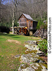 Grist glade creek mill in West Virginia