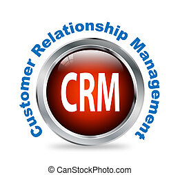 Round button of customer relationship management - crm