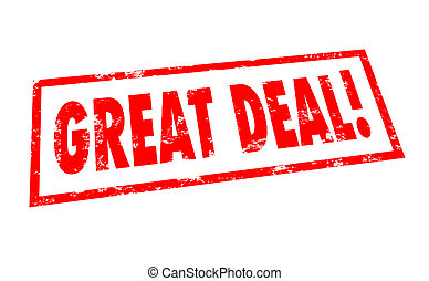 Great Deal Words Stamp Special Sale Discount Bargain Offer -...