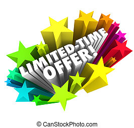 Limited Time Offer Stars 3d Words Special Savings Deal...