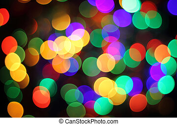 abstract christmas color lights background - abstract...