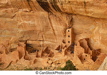 Square Tower House, Mesa Verde National Park, Colorado, USA