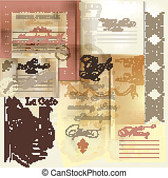 Collection of vector scrapbooking