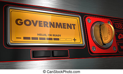 Government on Display of Vending Machine. - Government -...