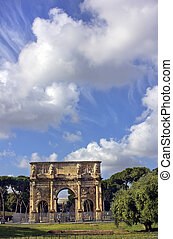 the Arch of Constantine, Rome, Italy - Arch of Constantine...
