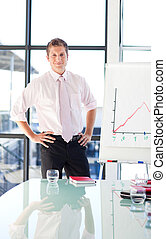 Young businessman standing in a presentation - Attractive...