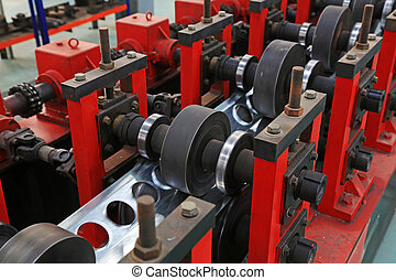 transmission device on the production line, in a solar...