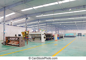 Solar energy production equipment, in a manufacturing...