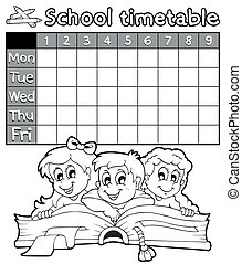 Coloring book school timetable 2