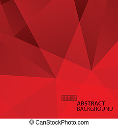 Abstract Red Geometric Background. Vector Illustration for...