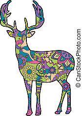 deer silhouette - vector painting silhouette of the deer