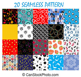 Seamless Pattern Background Vector Set