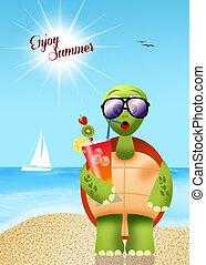Summertime - illustration of summertime