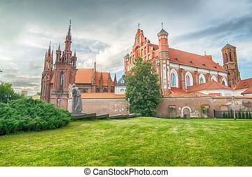 Churches in Vilnius, Lithuania - St Annes and Bernadines...
