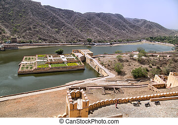 Amber Fort - Beautiful Amber Fort near Jaipur city in India....