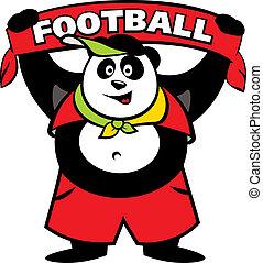 logotipo, ventilador,  Panda