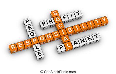 social responsibility (orange-white crossword puzzles...