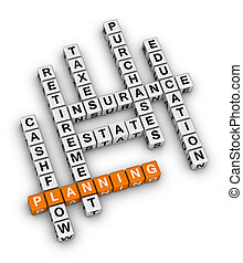 personal financial planning orange-white crossword puzzles...