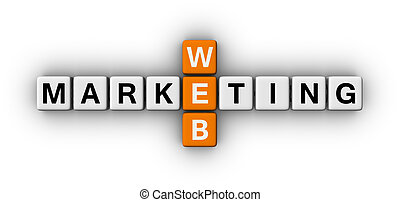 web marketing crossword puzzle sign