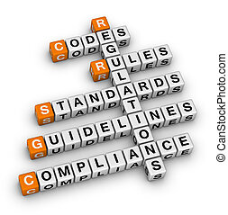 compliance orange-white crossword puzzles series