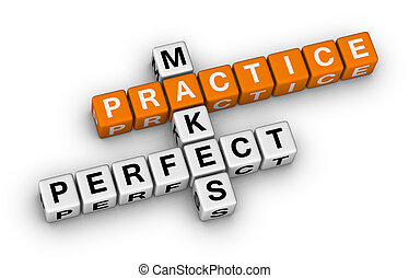 practice makes perfect (orange-white crossword puzzles...