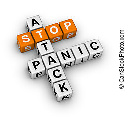 stop panic attack orange-white crossword puzzles series