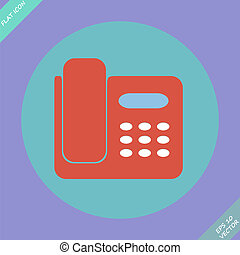 Icon of phone isolated - vector illustration.