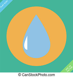 Drop icon with - vector illustration.