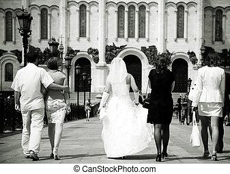 matrimonio, camminare