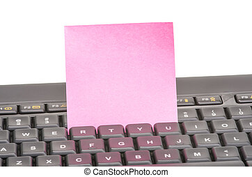 Paper note on keyboard