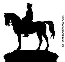 silhouette vector of the ataturk statue, that located at...