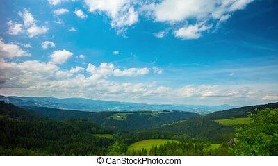 Alpine landscape, time-lapse