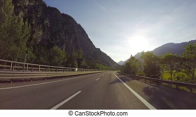 road through the Italian Alps