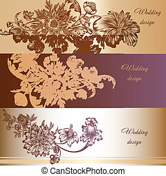 Set of vector invitation cards