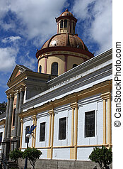Church in Otavalo - An old Catholic church in Otavalo,...