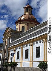 Church in Otavalo - An old Catholic church in Otavalo,...