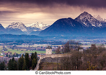 city - Fantastic view of the historic city of Salzburg....