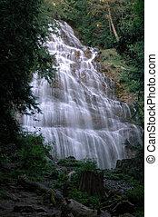 Bridal Veil Falls in Bridal Veil Falls Provincial Park near...