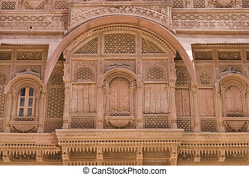 Window from the past - Ornate window of a traditional rajput...