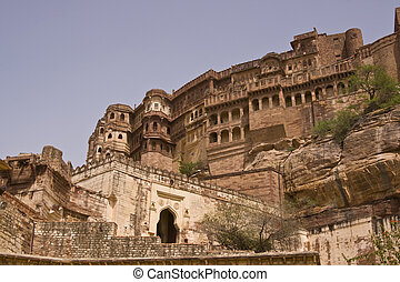 Jodhpur Fort - Meherangarh Fort . Former home of the...