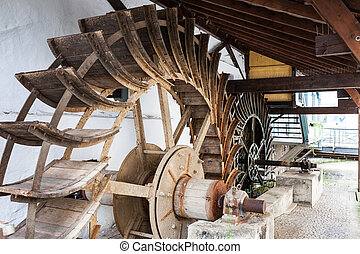 Water wheels in Esslingen germany