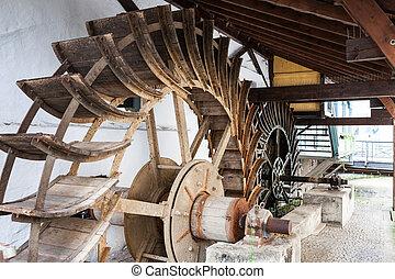 Water wheels in Esslingen germany