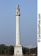Indian Monument - Tall white monument in central Calcutta...