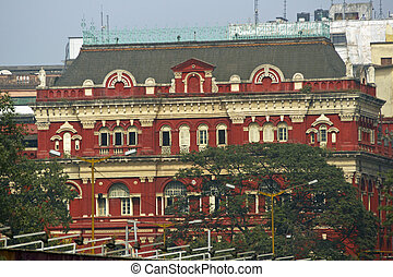 Architecture of Calcutta - Colonial style building in...